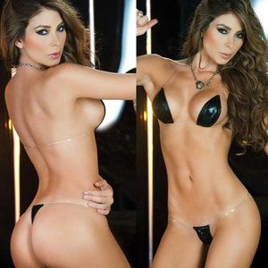 NEW WOMENS LINGERIE 2 PIECE SET EXOTIC DANCER SM